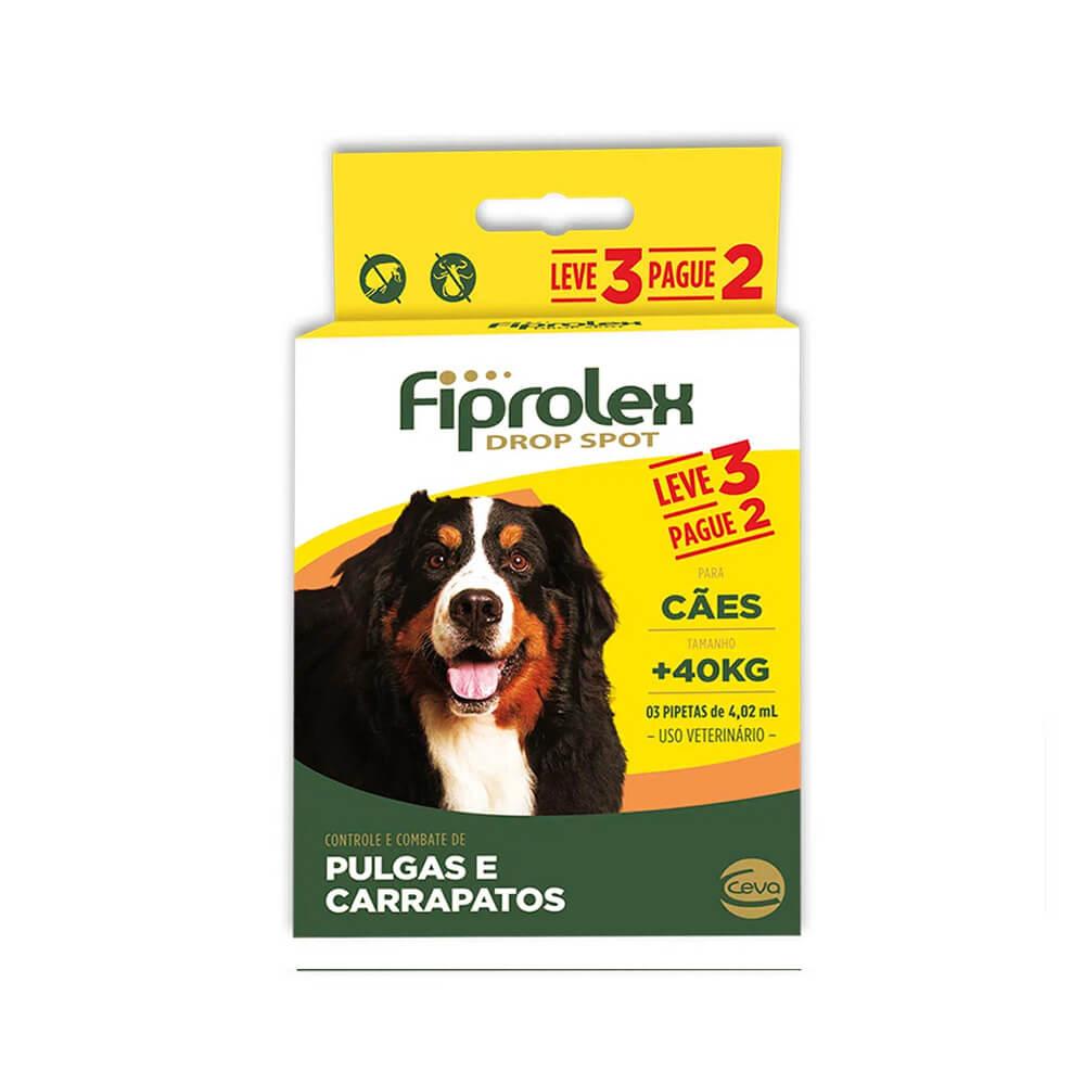 Fiprolex 4,02mL Combo Antipulgas e Carrapaticida Cães acima de 40kg Leve 3 pague 2