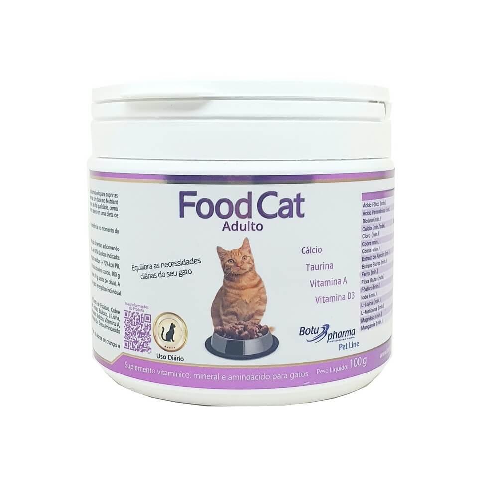 Food Cat Suplemento Gato Adulto 100g Botupharma