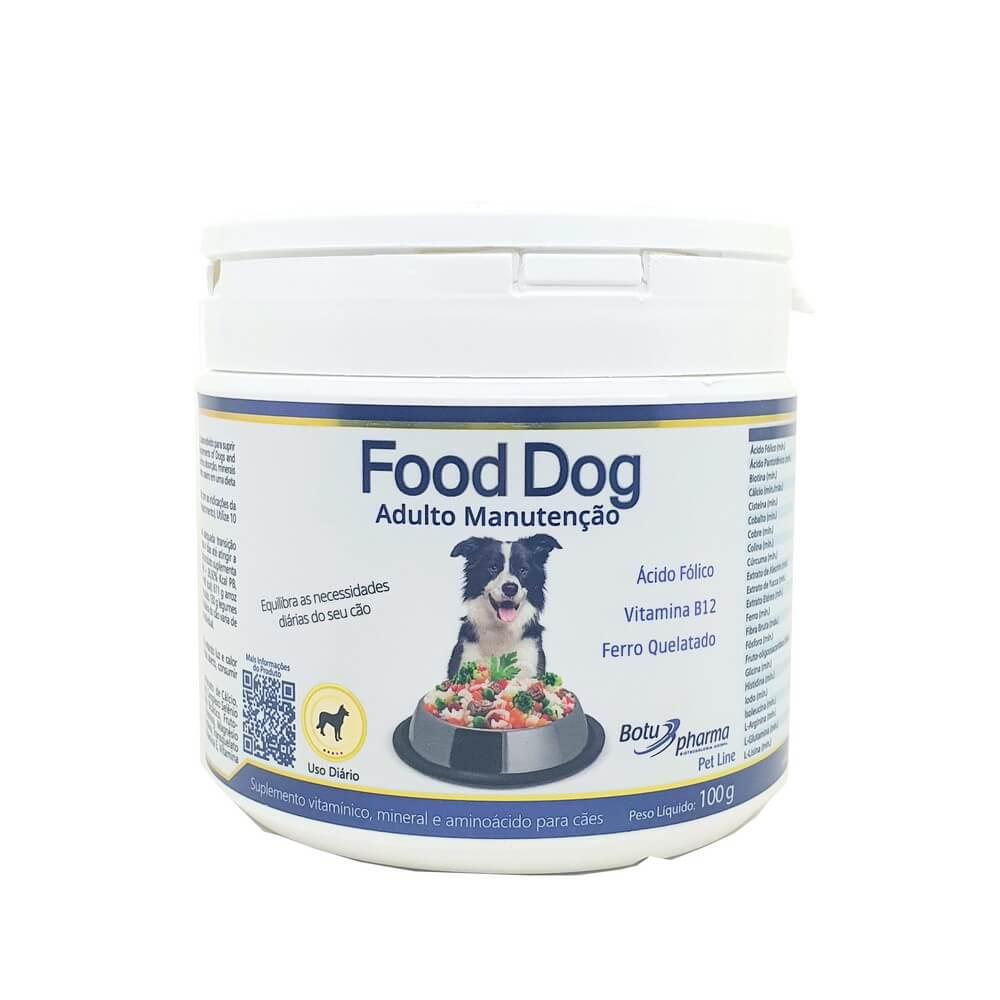 Food Dog Adulto Manutenção Suplemento 100g Botupharma