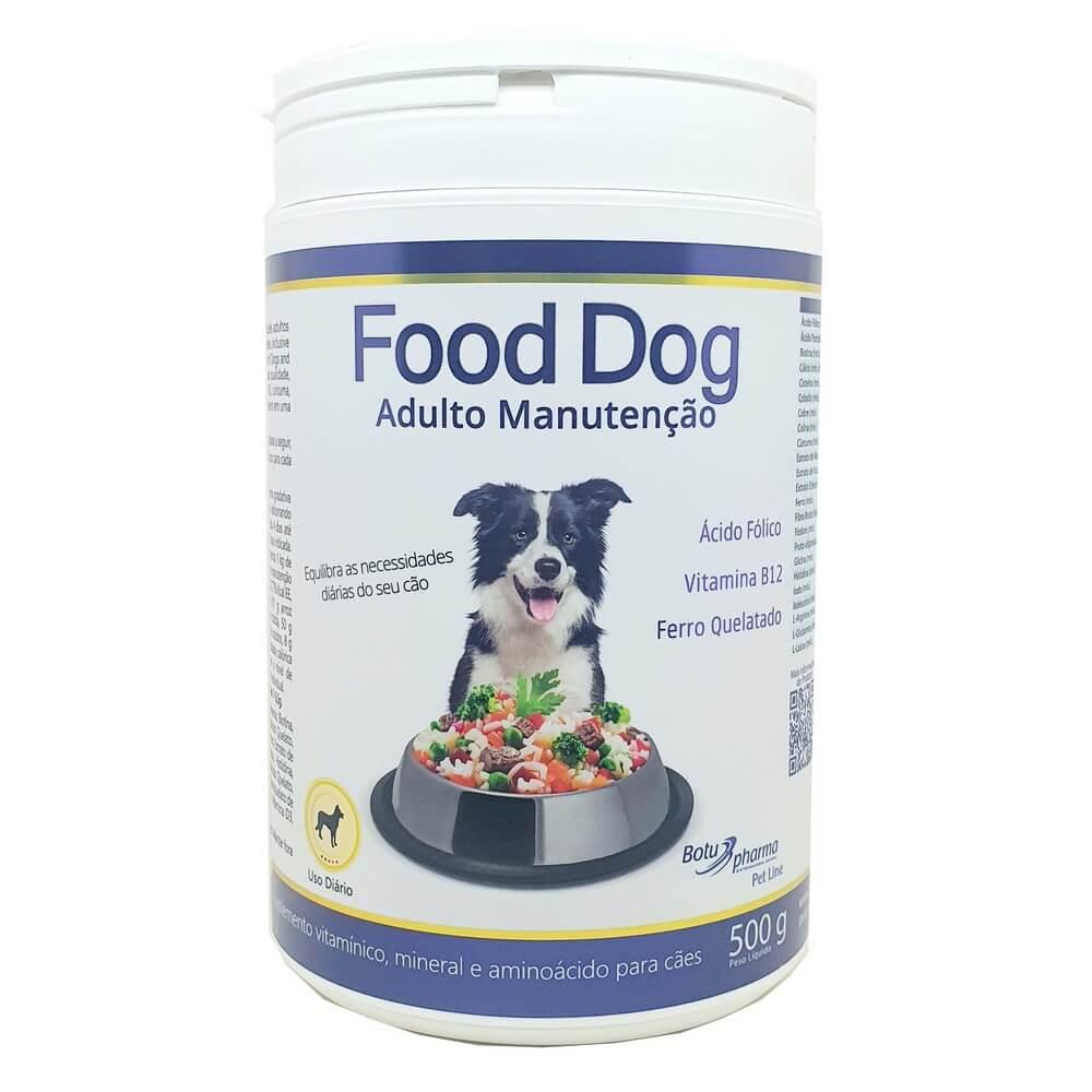 Food Dog Adulto Manutenção Suplemento 500g Botupharma