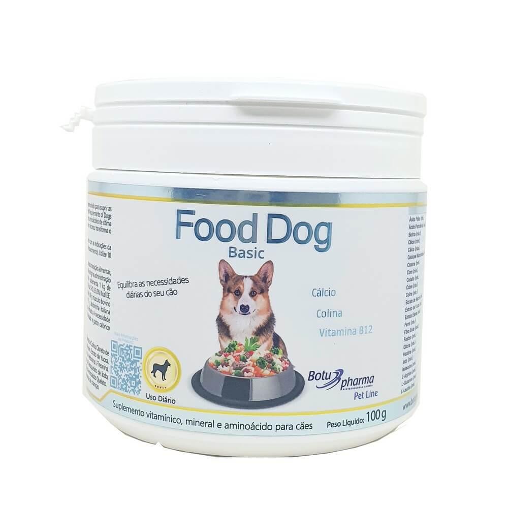Food Dog Basic Suplemento Cães 100g Botupharma