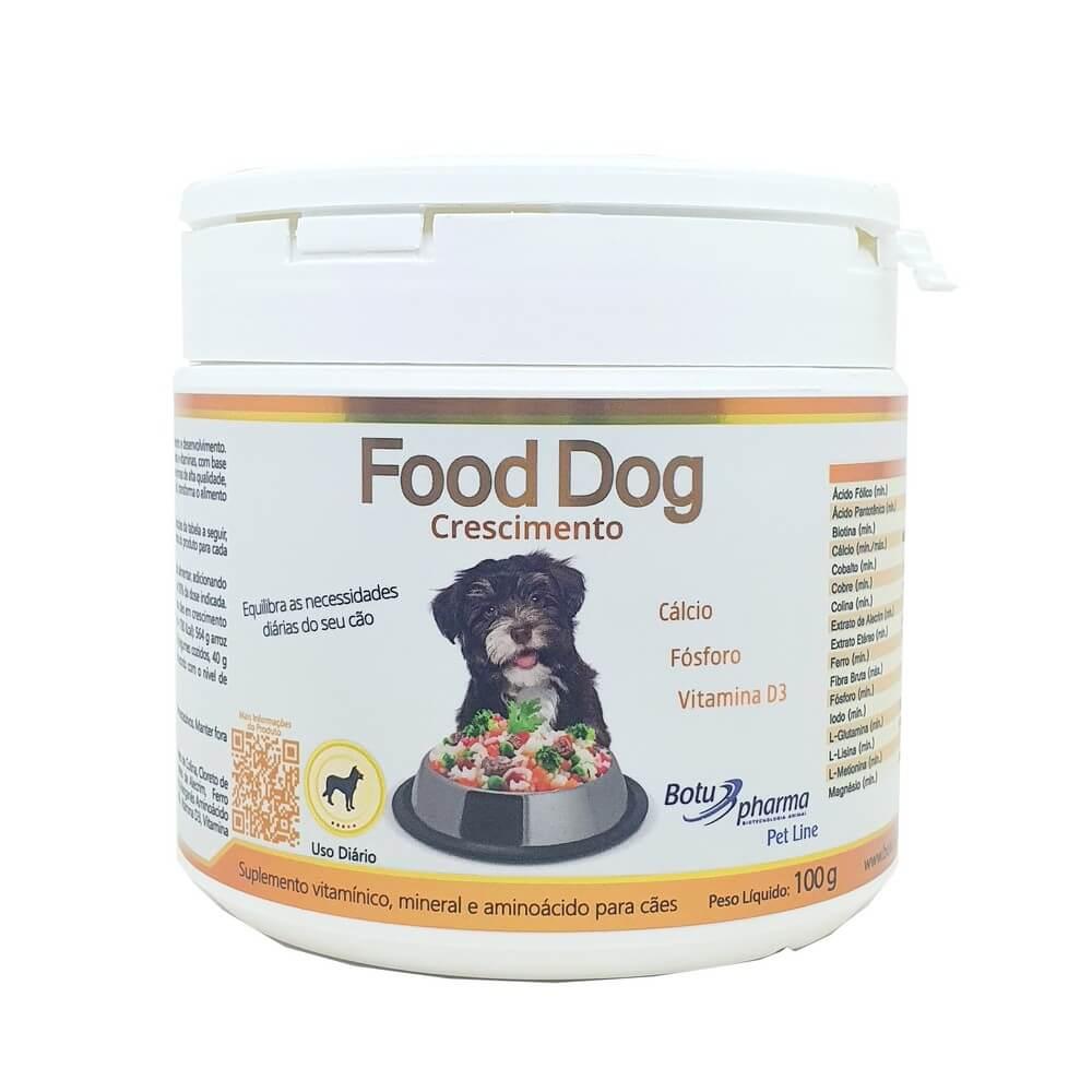 Food Dog Crescimento Suplemento 100g Botupharma