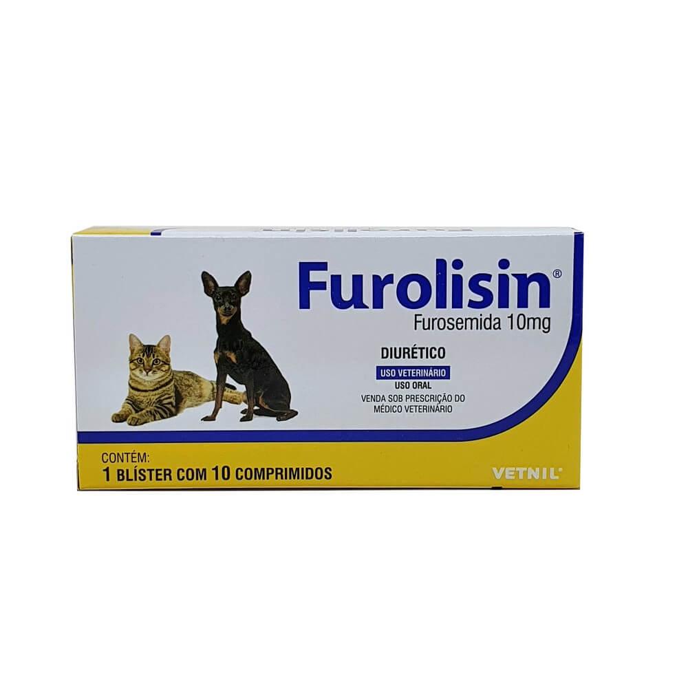 Furolisin Vetnil Diurético Cães e Gatos 10mg ? 10 Comp