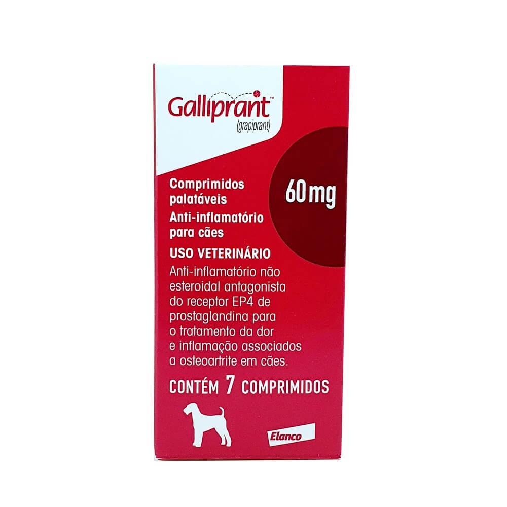 Galliprant 60mg Cães Anti-inflamatório Elanco 7 Comprimidos