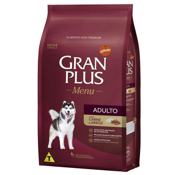 Gran Plus Cães Adulto Carne e Arroz 15 kg