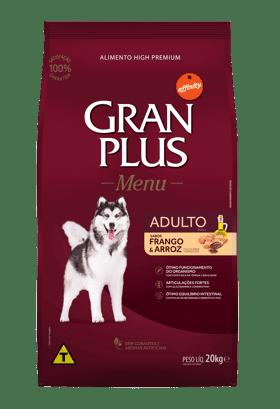 Gran Plus Cães Adulto Frango e Arroz 15 kg