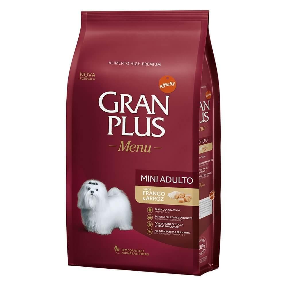 Gran Plus Cães Adulto Mini Frango e Arroz 1 kg