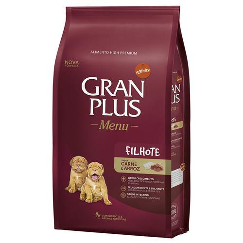 Gran Plus Cães Filhote Carne e Arroz 15 kg