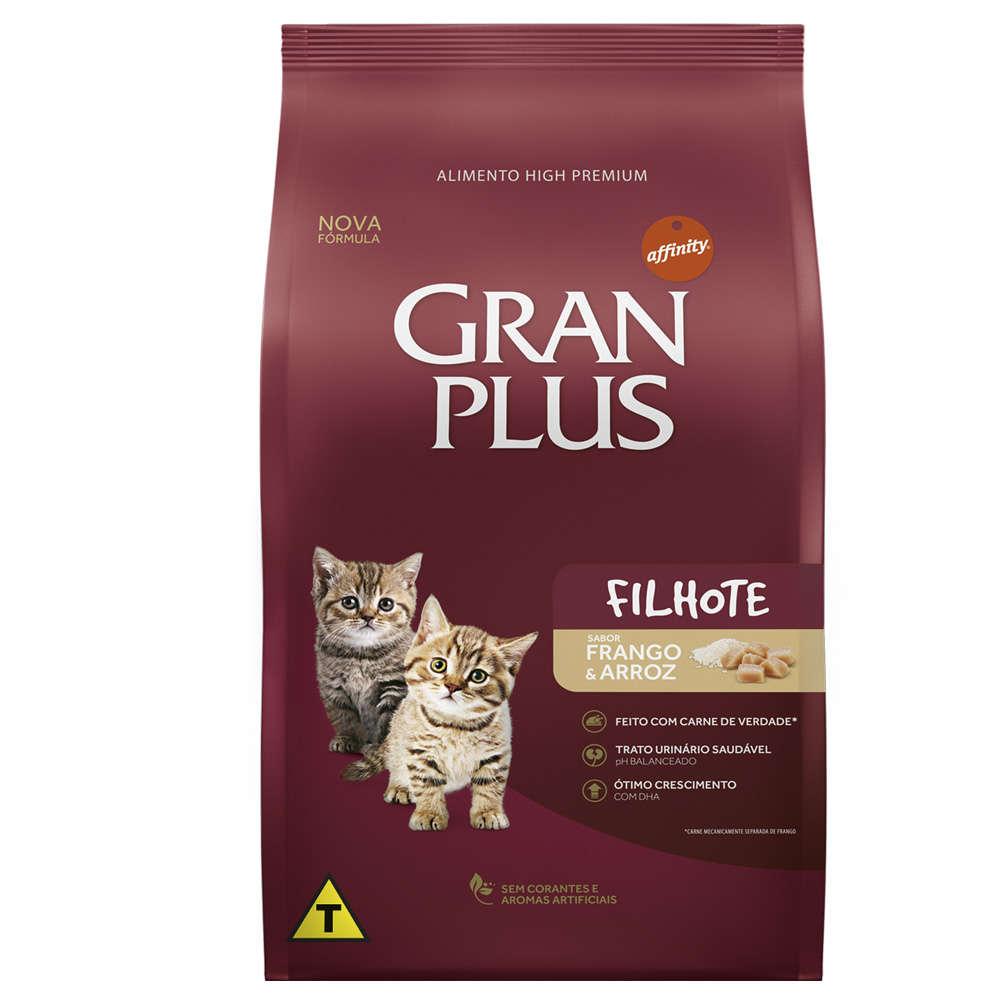 Gran Plus Gatos Filhotes Frango e Arroz 3 kg