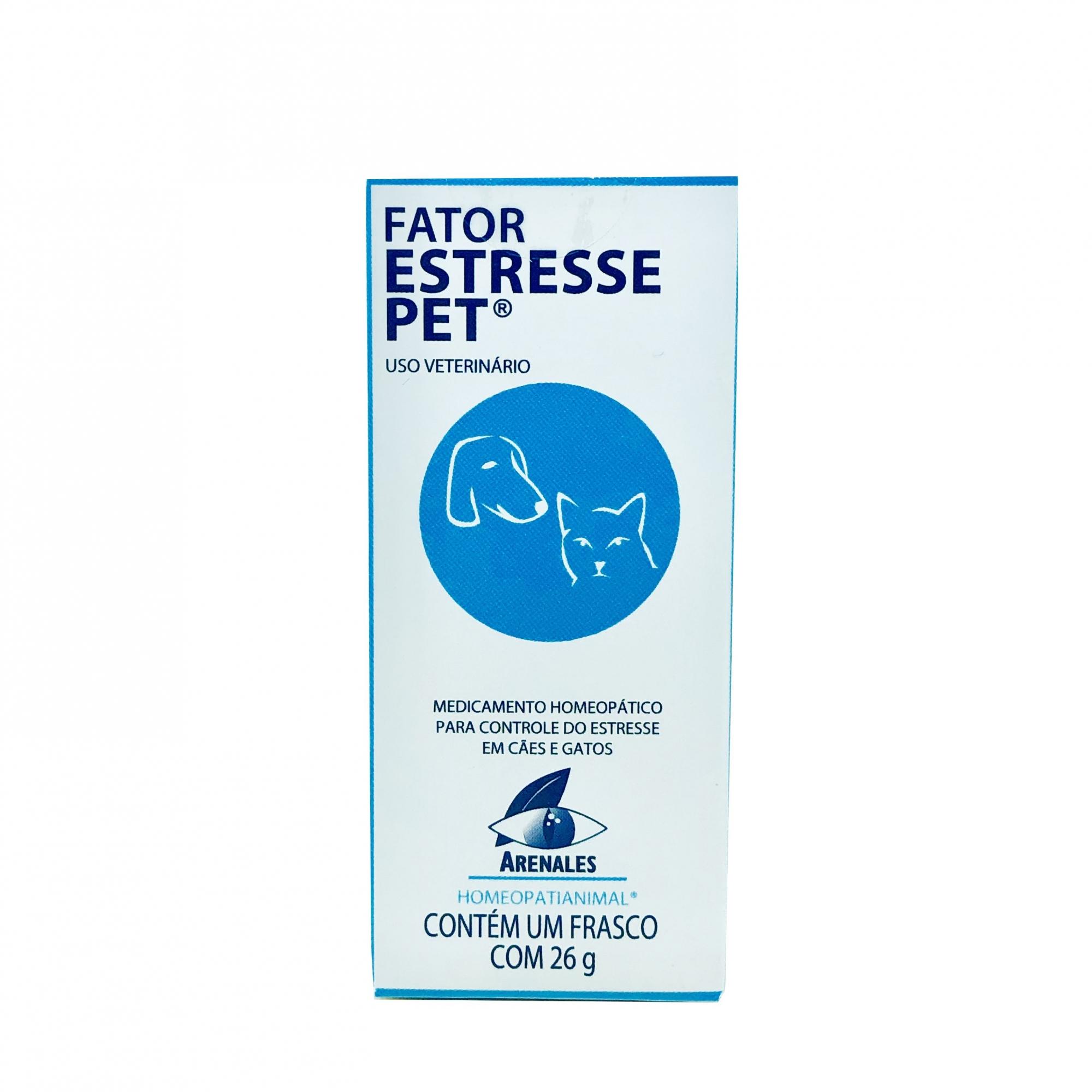 Homeopático Fator Estresse Pet Arenales 26 g