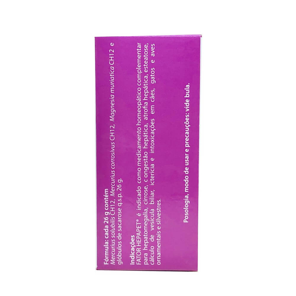 Homeopático Fator Hepapet Arenales 26 g