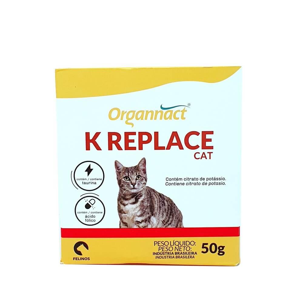 K Replace Cat Suplemento para Gatos Organnact 50g