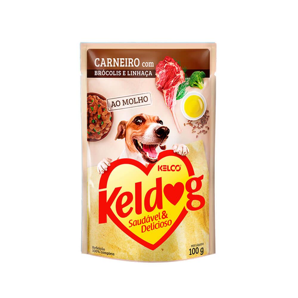 Keldog Ração Úmida para Cães Carneiro com Brócolis e Linhaça Kelco 100g