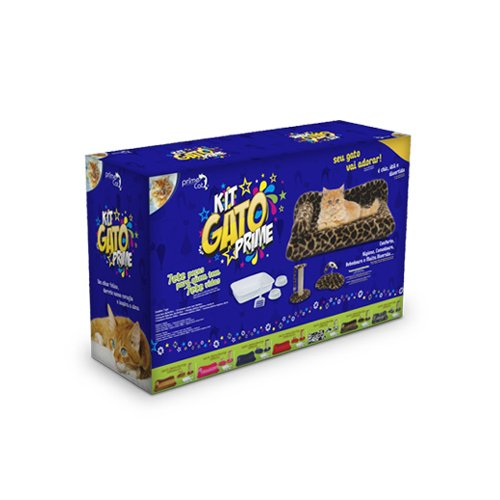 Kit Gato Prime Caramelo Power Pets 7 peças