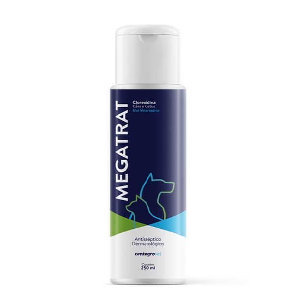 Megatrat Clorexidina Shampoo Antisséptico Cães e Gatos Centagro 250 ml
