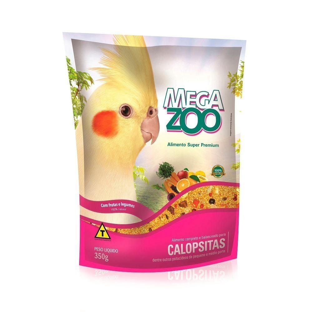 Megazoo Extrusada Calopsita Frutas/Legumes 350g