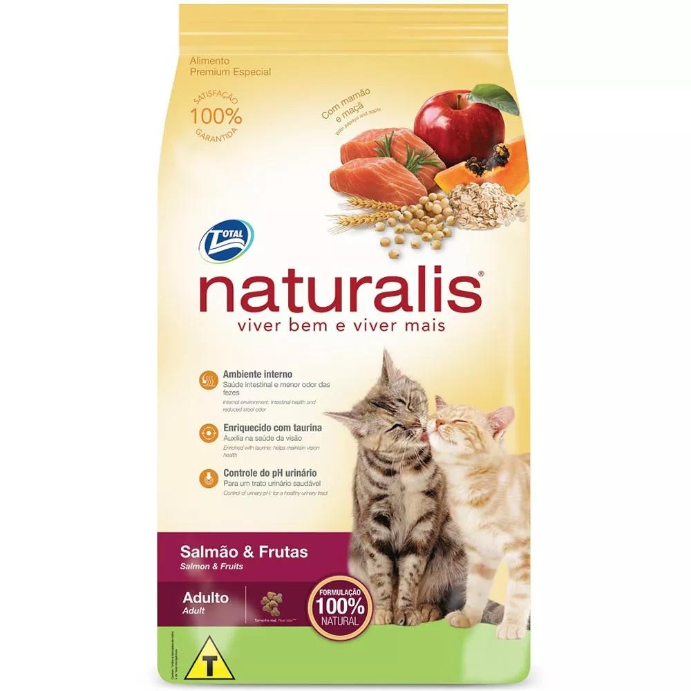 Naturalis Gatos Adultos Salmão e Frutas 3 kg