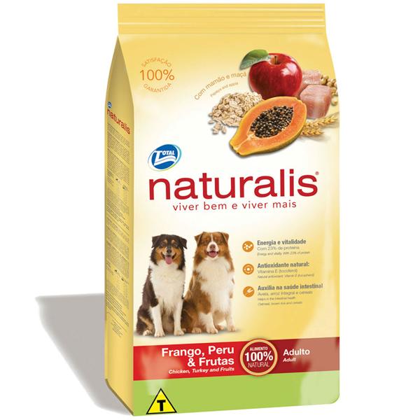 Naturalis Ração Para Cães Adulto Frango, Peru e Frutas 15 kg