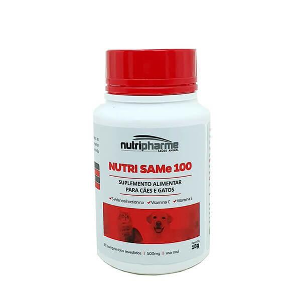 Nutri Same 100 Suplemento Cães e Gatos Nutripharme 30 Comprimidos