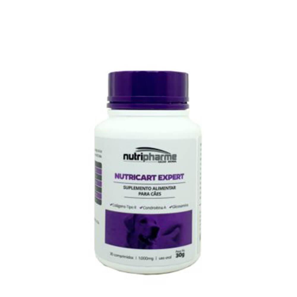 Nutricart Expert Nutripharme Para Cães 30 Comprimidos
