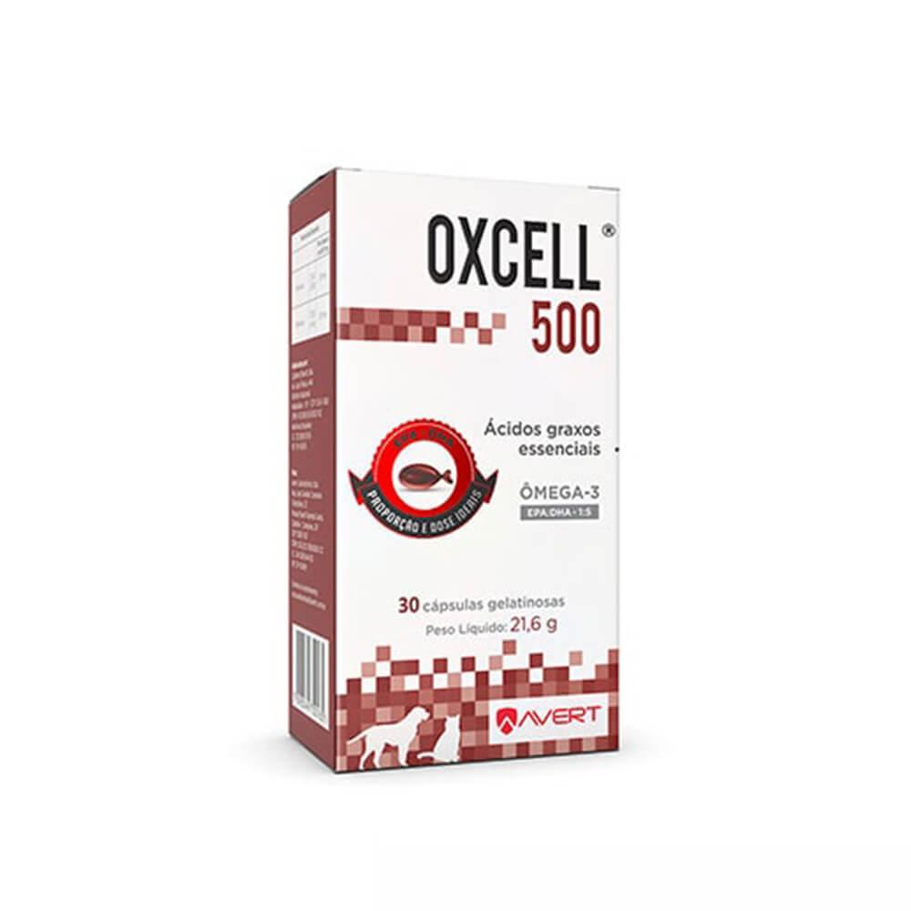 Oxcell 500 Suplemento Cães e Gatos Avert 30 Caps