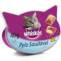 Petiscos Temptations Whiskas pelo saudável 40g