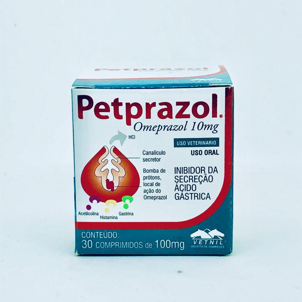 Petprazol Omeprazol 10 mg Vetnil 30 Comprimidos