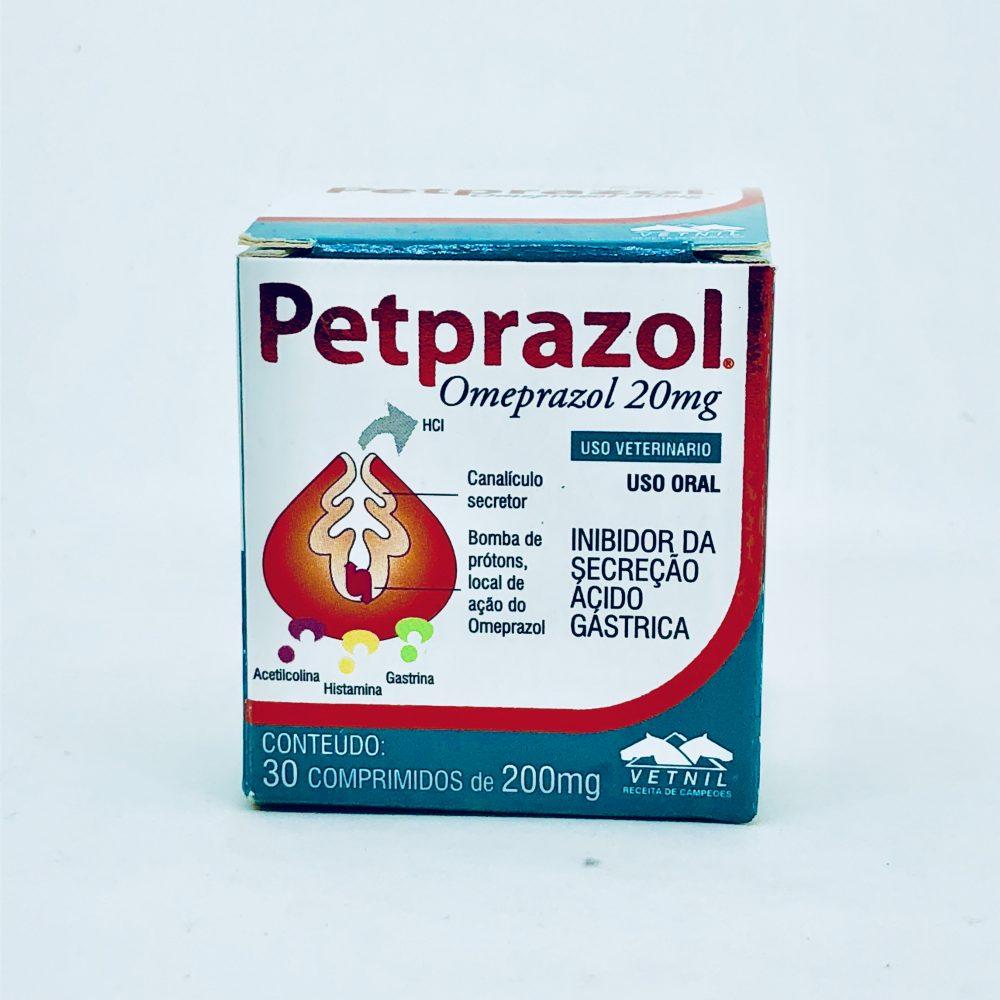 Petprazol Omeprazol 200 mg Vetnil 30 Comprimidos