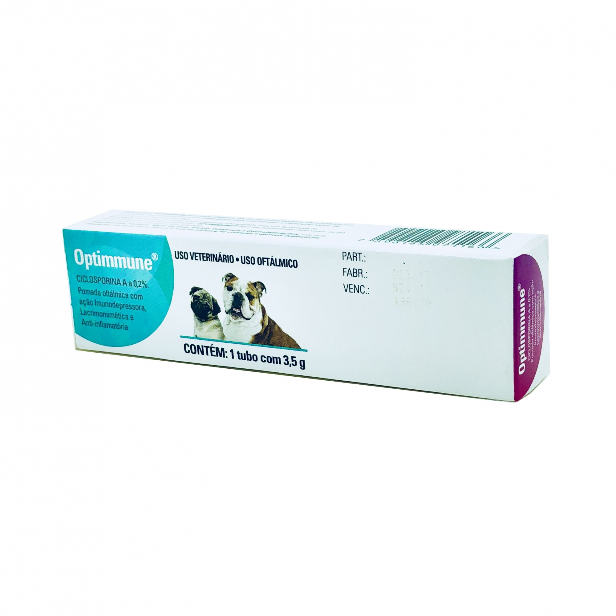 Pomada Oftamológica Optimmune MSD 3,5 g