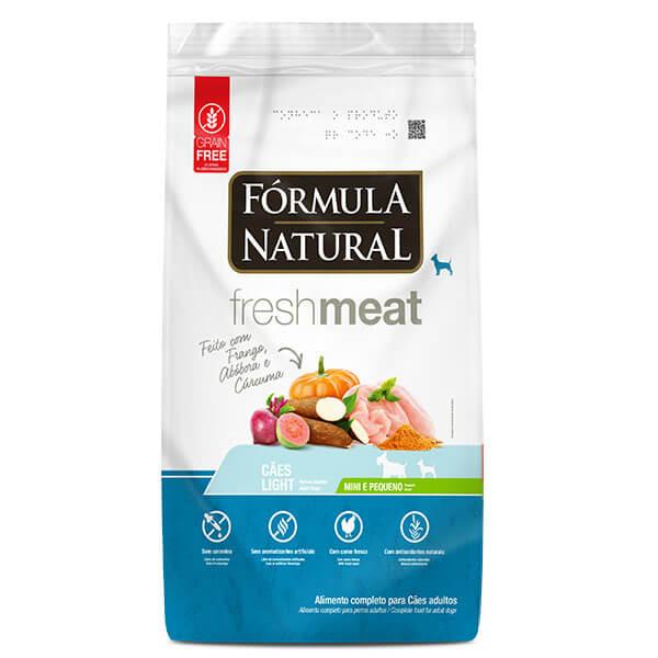 Ração Formula Natural Fresh Meat Cães Adultos Light Mini e Pequeno 7 kg