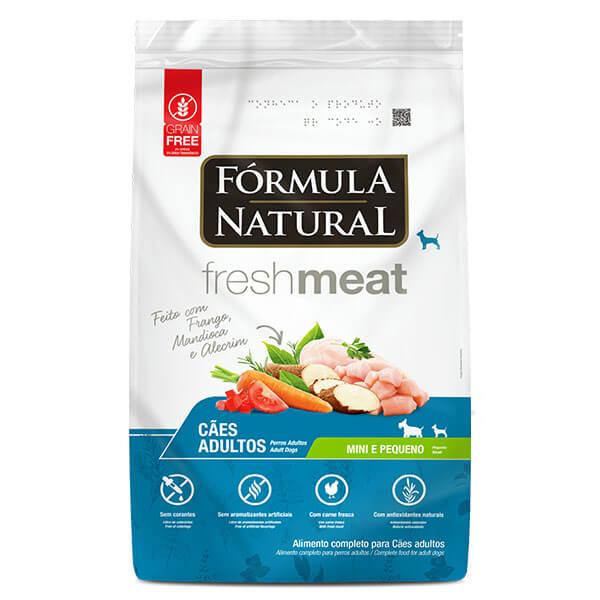 Ração Formula Natural Fresh Meat Cães Adultos Mini e Pequeno Sabor Frango 7 kg