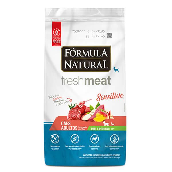 Ração Fórmula Natural Fresh Meat Cães Adultos Sensitive Mini e Pequeno 1 kg