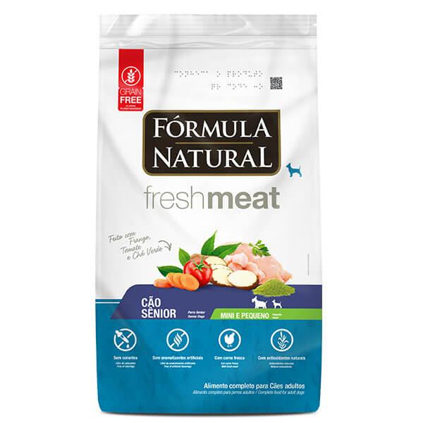 Ração Formula Natural Fresh Meat Cães Senior Mini e Pequeno 7 kg
