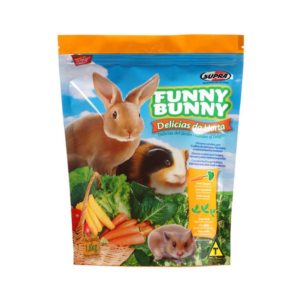 Ração Funny Bunny para Roedores Delicias da Horta Supra 1,8kg