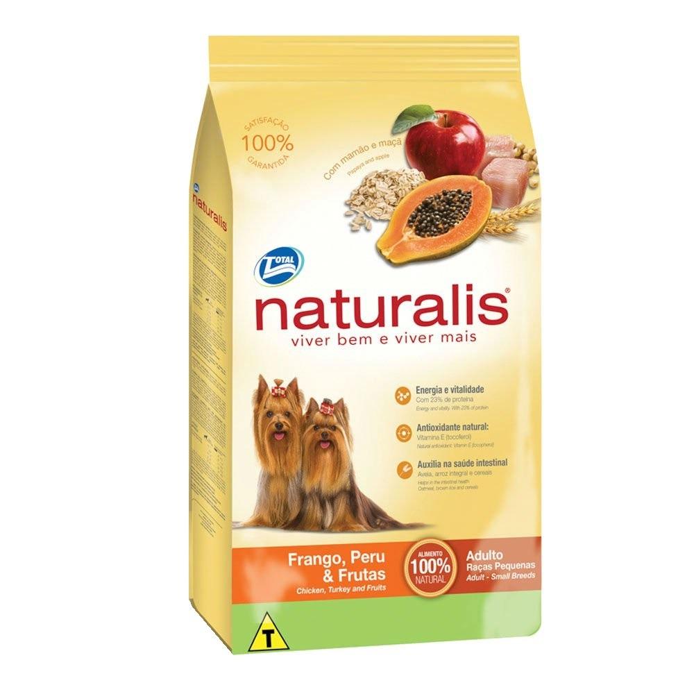 Ração Naturalis Cães Adulto Pequenas Raças Frango, Peru e Frutas 15 kg