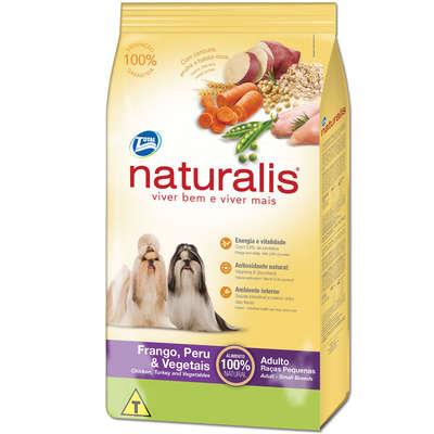 Ração Naturalis Cães Adultos Pequenos Frango, Peru e Vegetais 15 kg