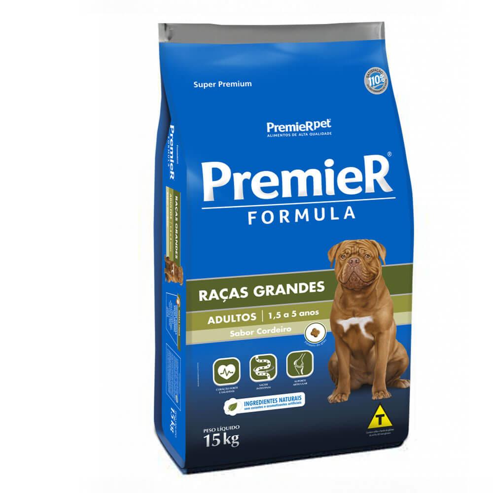 Ração Premier Formula Raças Grandes Cães Adultos 1,5 a 5 anos Cordeiro 15kg