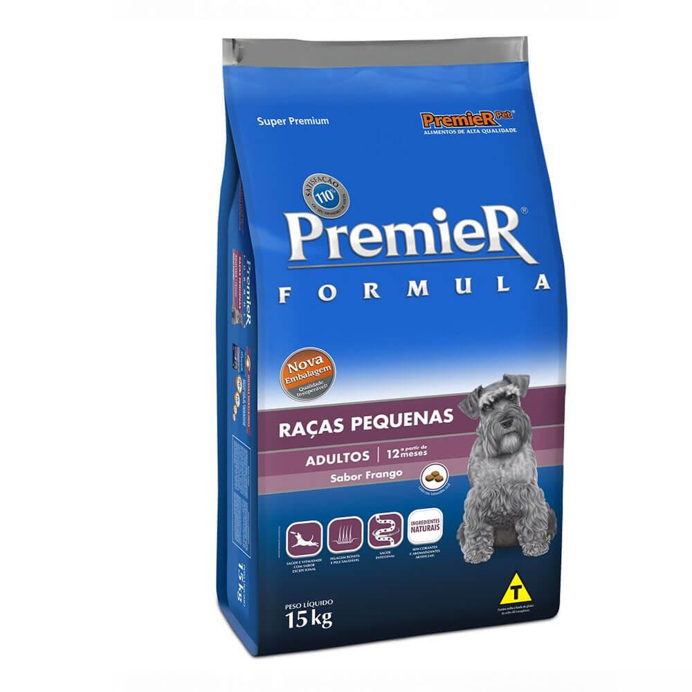Ração Premier Formula Raças Pequenas Cães Adultos a partir de 12 meses Frango 15kg