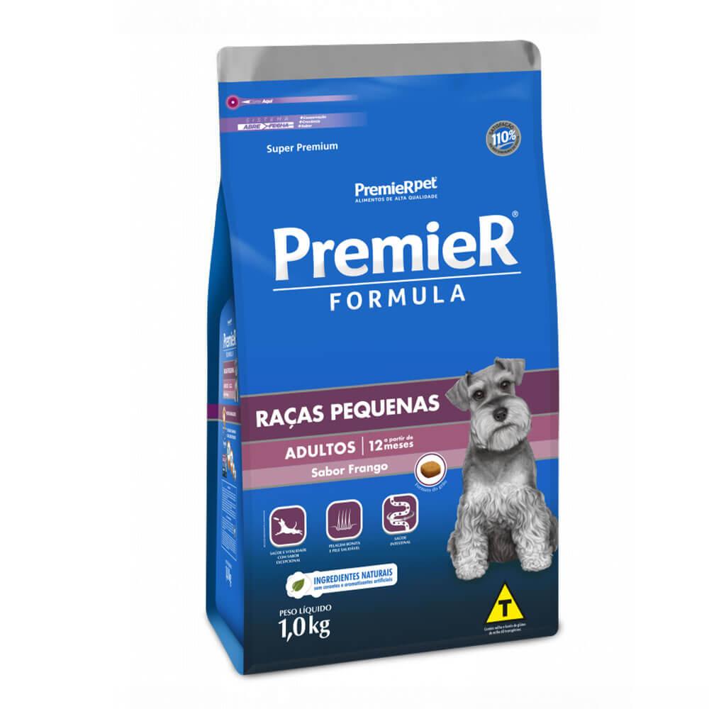 Ração Premier Formula Raças Pequenas Cães Adultos a partir de 12 meses Frango 1kg