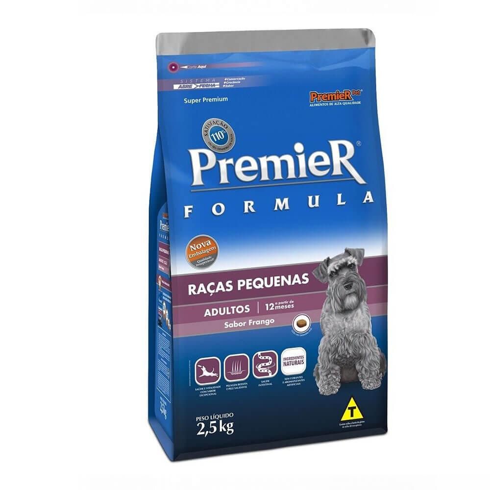 Ração Premier Formula Raças Pequenas Cães Adultos a partir de 12 meses Frango 2,5kg