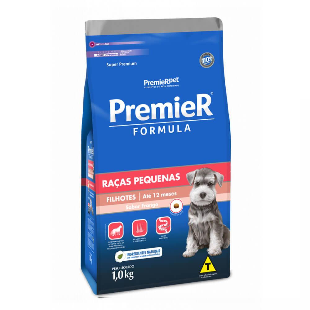Ração Premier Formula Raças Pequenas Cães Filhotes até 12 meses Frango 1kg