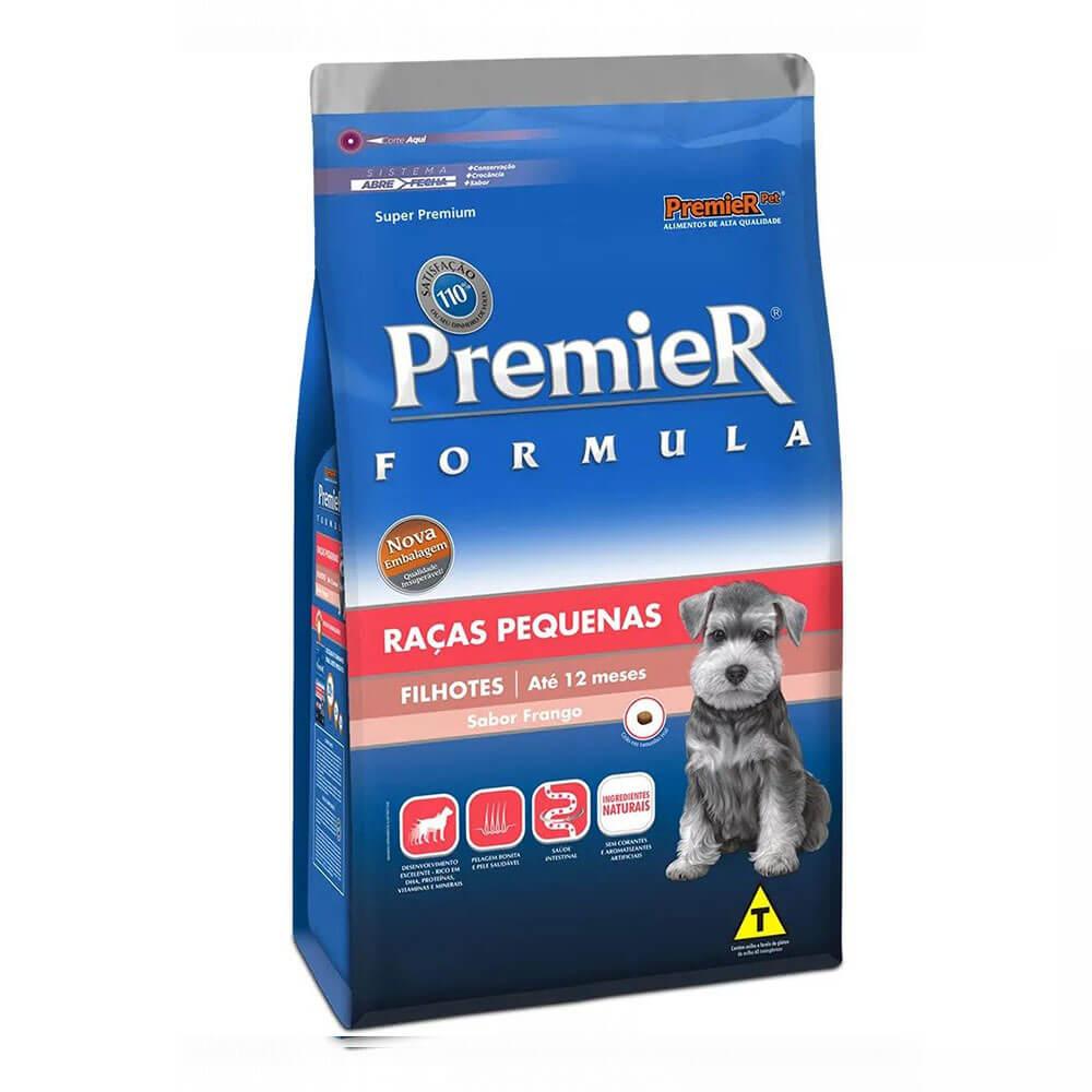 Ração Premier Formula Raças Pequenas Cães Filhotes até 12 meses Frango 2,5kg