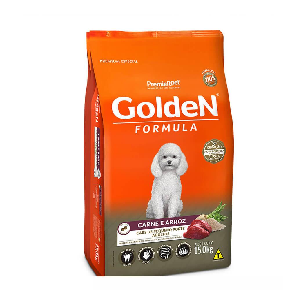 Ração Premier Golden Formula Cães de Pequeno Porte Adultos Carne e Arroz 15kg