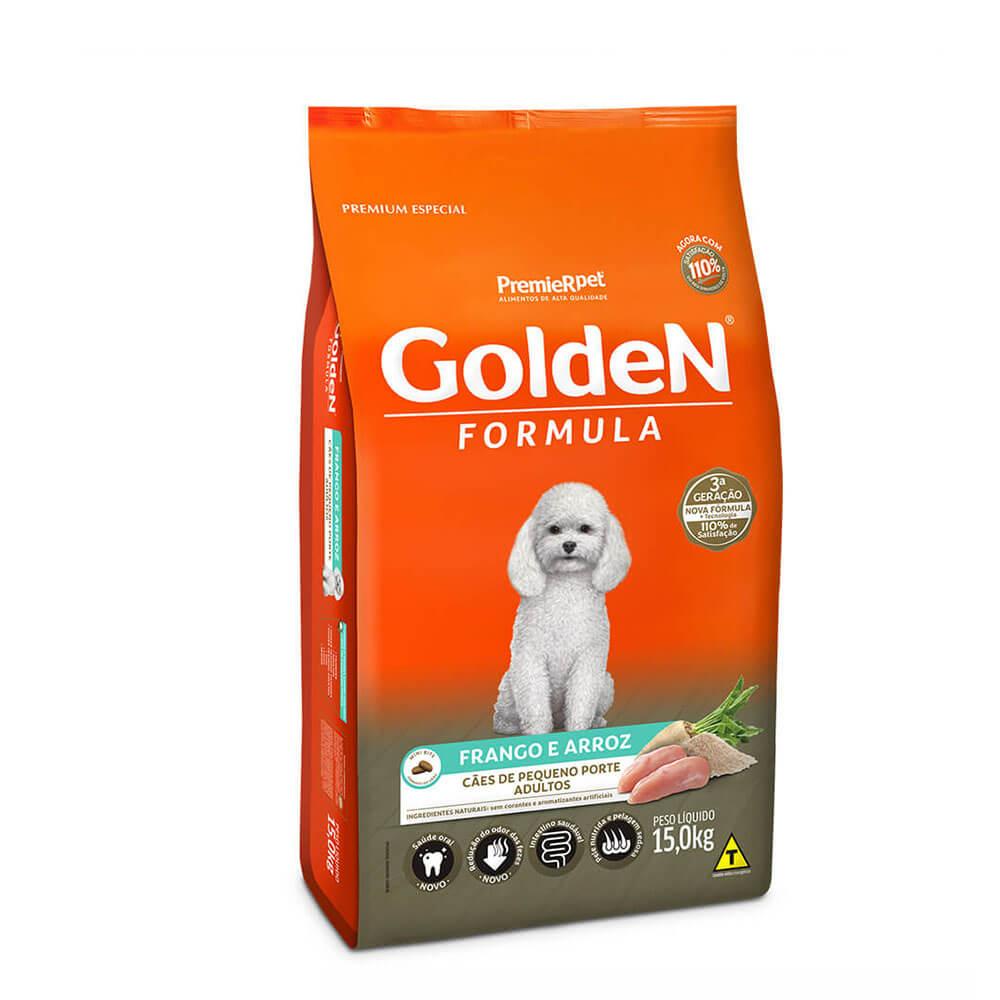 Ração Premier Golden Formula Cães de Pequeno Porte Adultos Frango e Arroz 15 kg