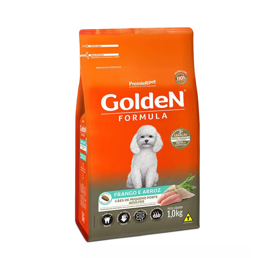 Ração Premier Golden Formula Cães de Pequeno Porte Adultos Frango e Arroz 1kg