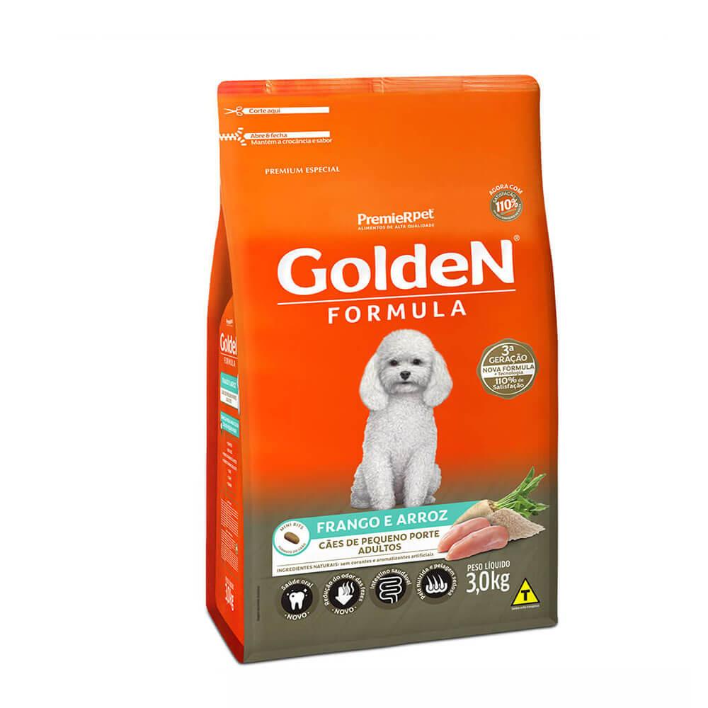 Ração Premier Golden Formula Cães de Pequeno Porte Adultos Frango e Arroz 3kg