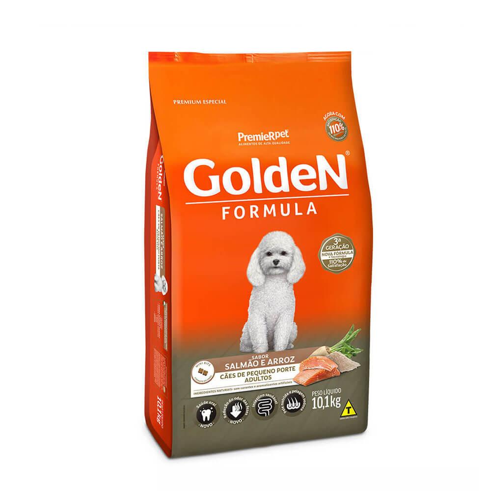 Ração Premier Golden Formula Cães de Pequeno Porte Adultos Salmão e Arroz 10,1kg