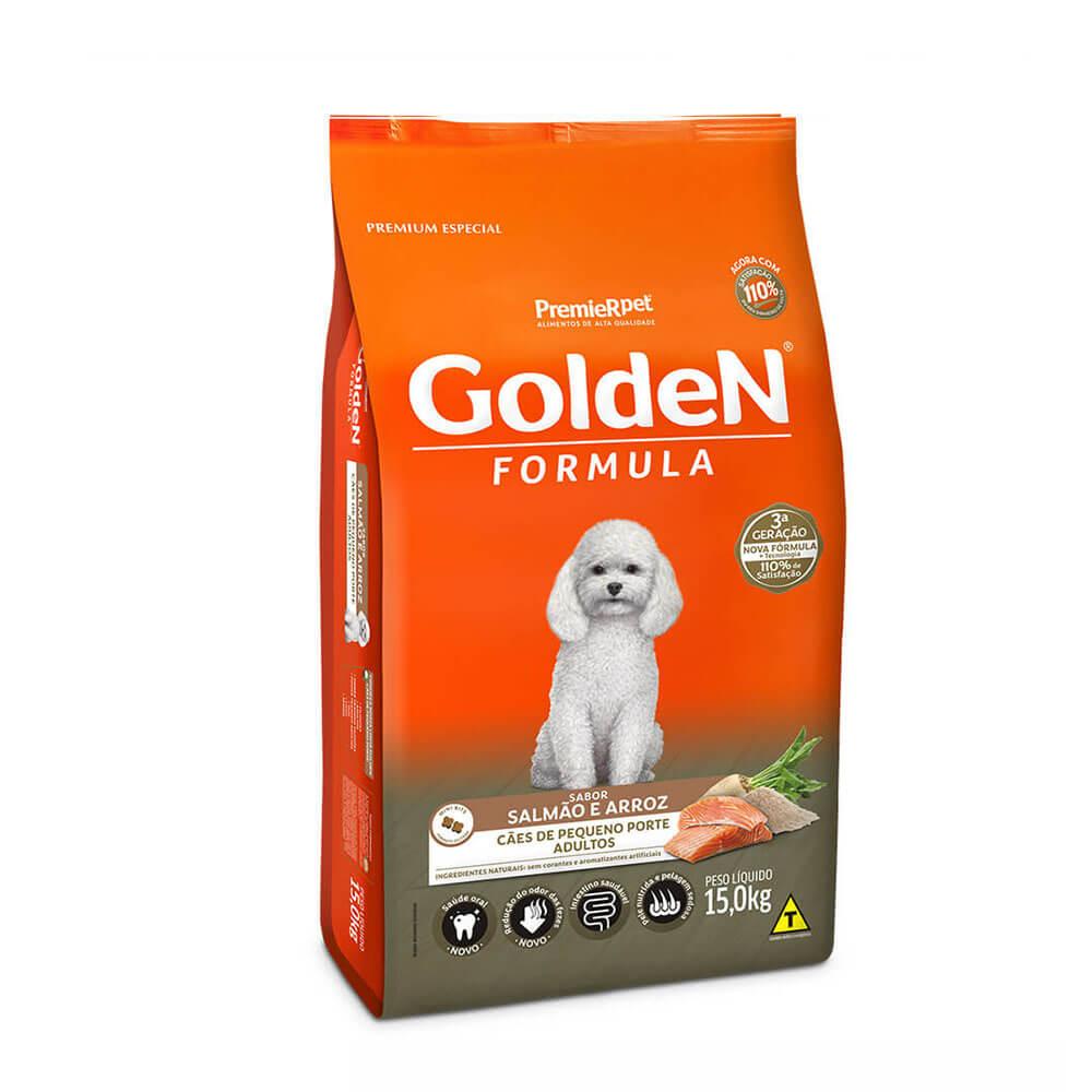 Ração Premier Golden Formula Cães de Pequeno Porte Adultos Salmão e Arroz 15kg