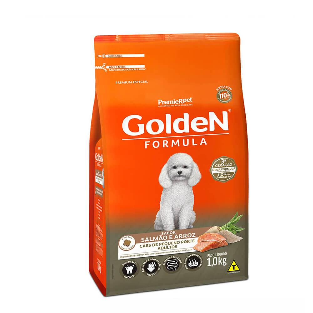 Ração Premier Golden Formula Cães de Pequeno Porte Adultos Salmão e Arroz 1kg