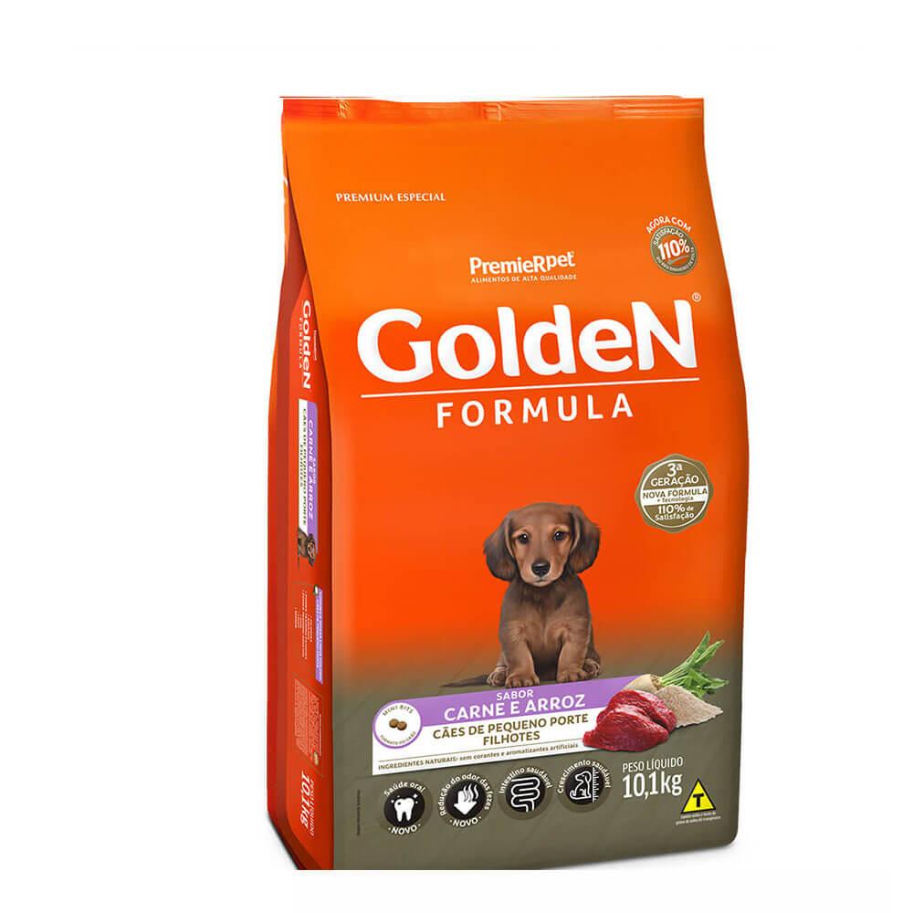 Ração Premier Golden Formula Cães de Pequeno Porte Filhotes Carne e Arroz 10,1kg